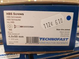 HBS Schroeven 4,0×50
