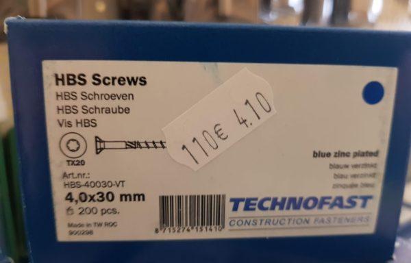 HBS Schroeven 4,0×30